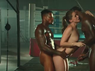 Tori Black Is Oiled Up And Dominated And Fucked By Two Big Black Cock